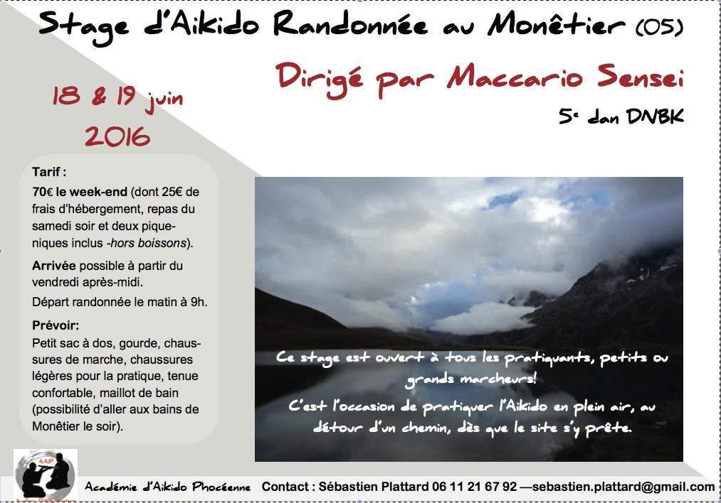 Stage d'Aikido Randonnée au Monêtier